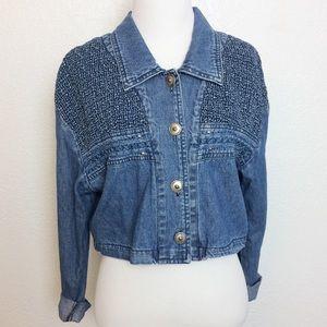 Hannah & Tina • vtg cropped jean jacket